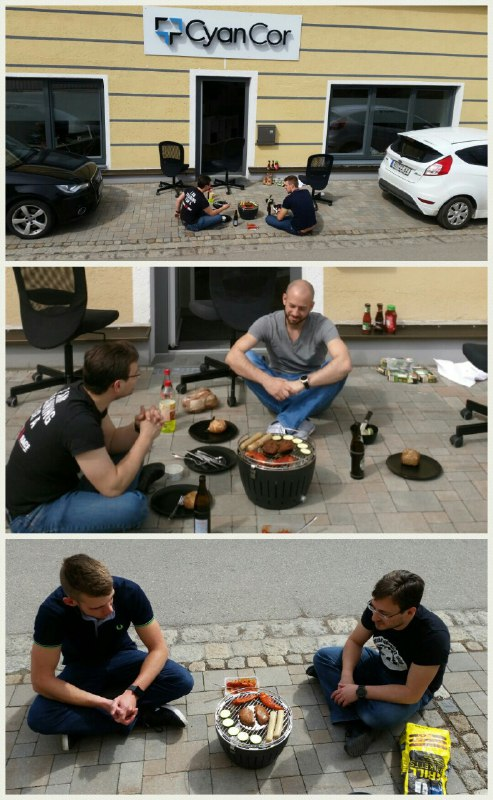 Grillen in der Mittagspause